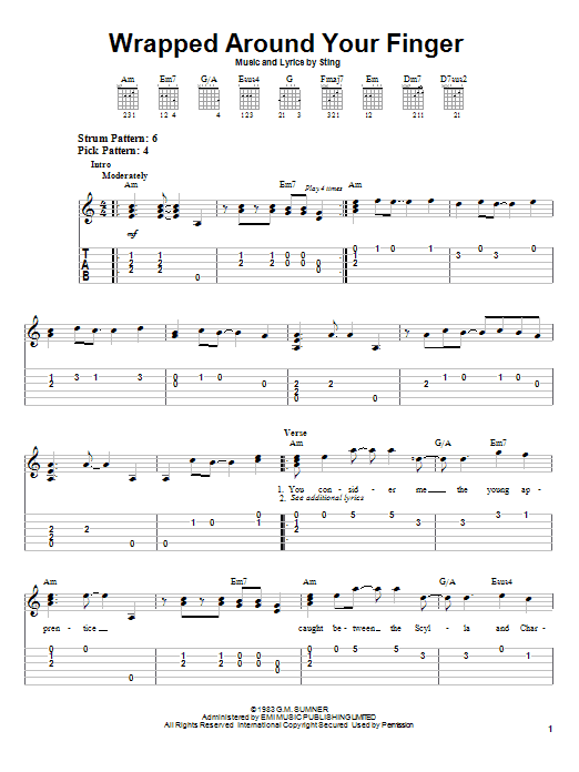 Wrapped Around Your Finger sheet music
