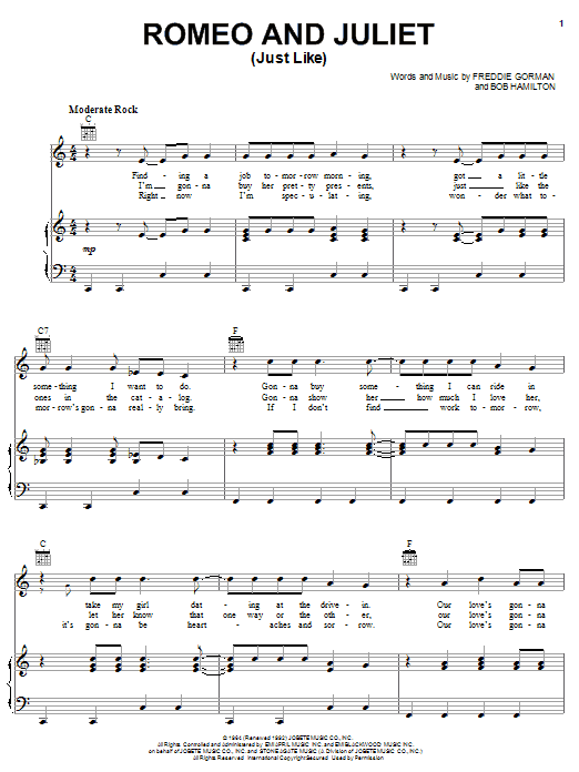 Romeo and Juliet (Just Like) sheet music