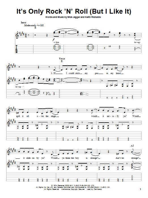 It's Only Rock 'N' Roll (But I Like It) sheet music