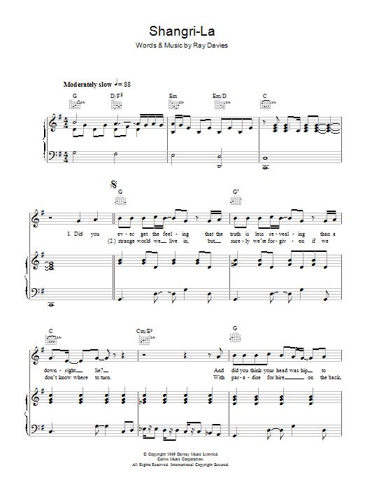 Shangri-La sheet music