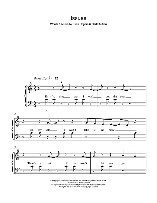 Issues sheet music
