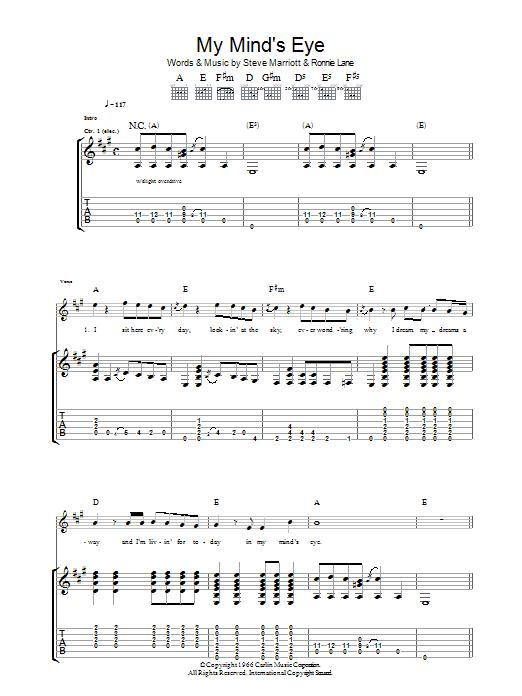 My Mind's Eye sheet music