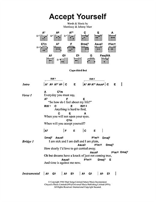 Accept Yourself sheet music