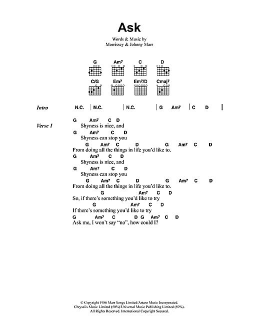 Ask sheet music