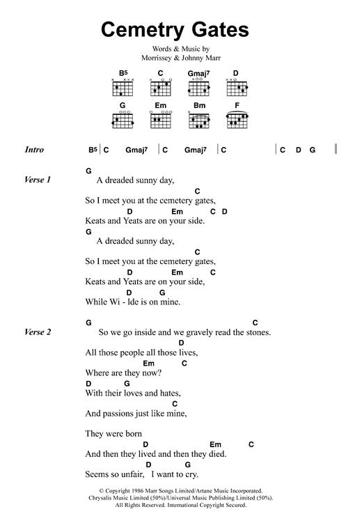 Cemetry Gates sheet music