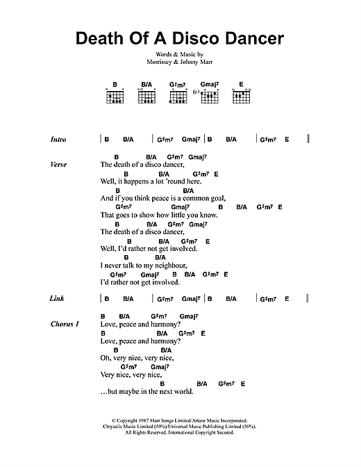 Death Of A Disco Dancer sheet music