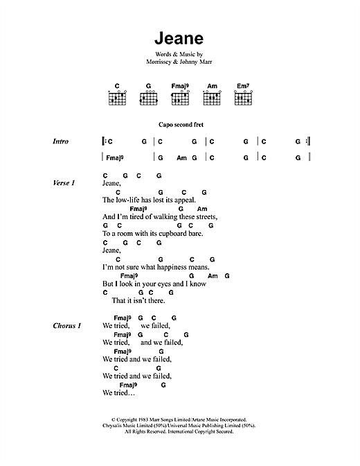 Jeane sheet music