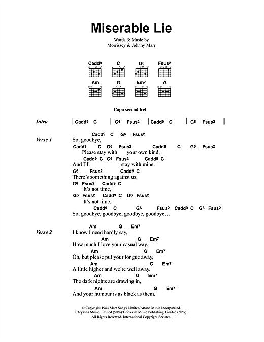 Miserable Lie sheet music