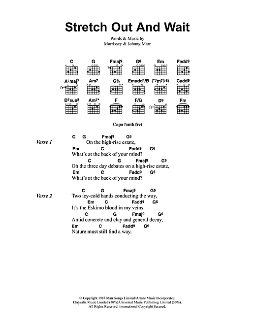 Stretch Out And Wait sheet music