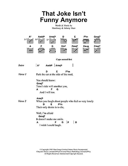 That Joke Isn't Funny Anymore sheet music