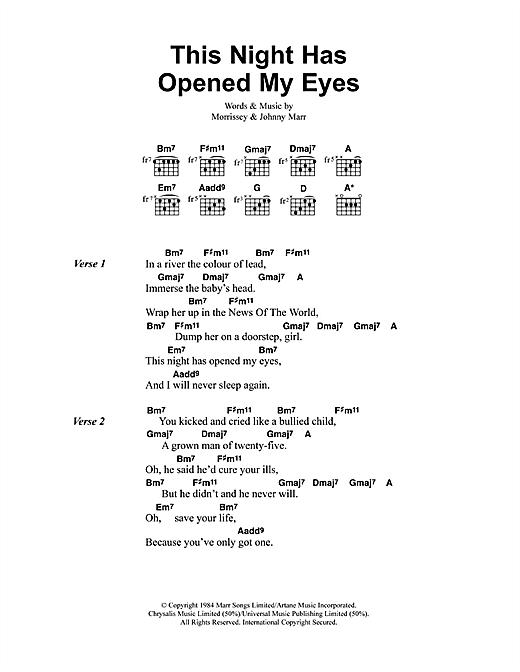This Night Has Opened My Eyes sheet music