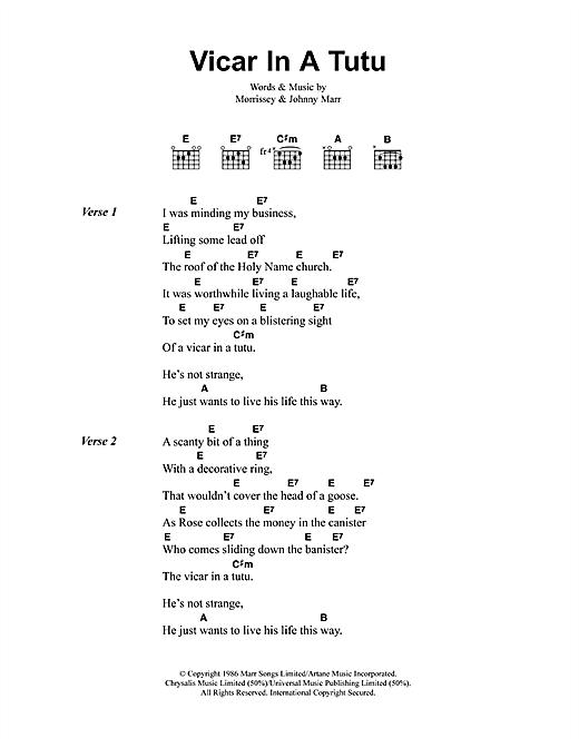 Vicar In A Tutu sheet music
