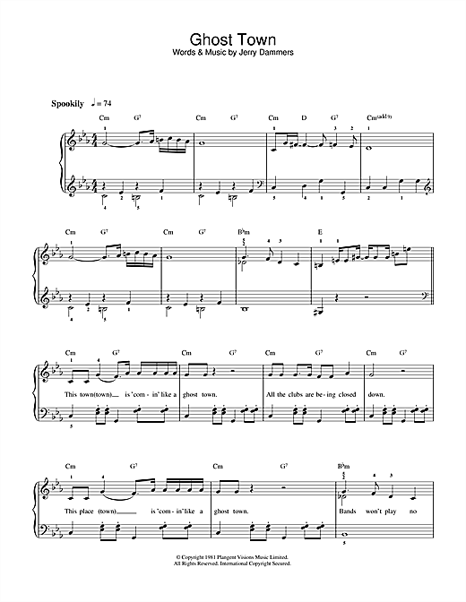 Ghost Town sheet music