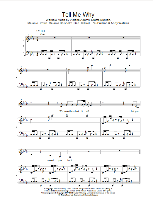 Tell Me Why sheet music