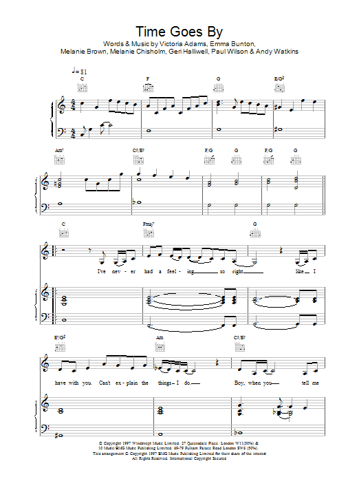 Time Goes By sheet music