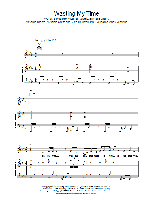 Wasting My Time sheet music