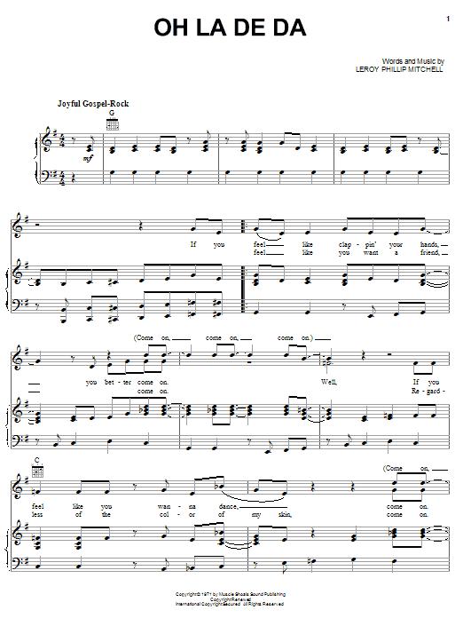 Oh La De Da sheet music