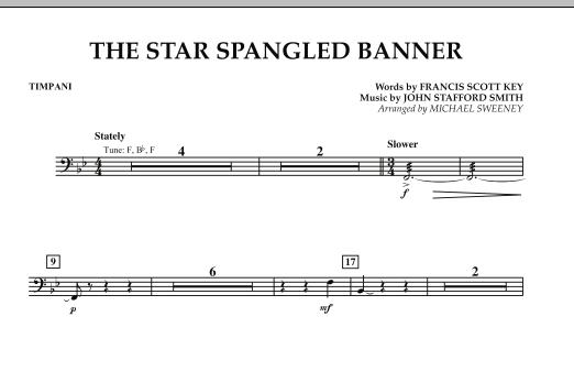 Calvin Custer The Star Spangled Banner Timpani Sheet Music Download Pdf Score 344259