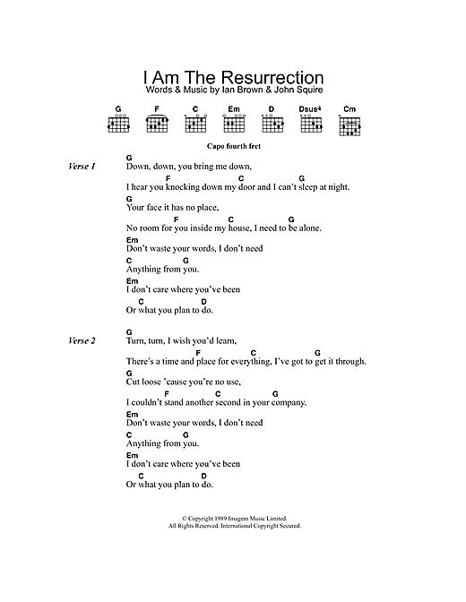 I Am The Resurrection sheet music