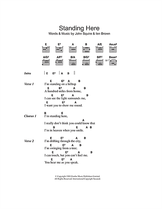 Standing Here sheet music