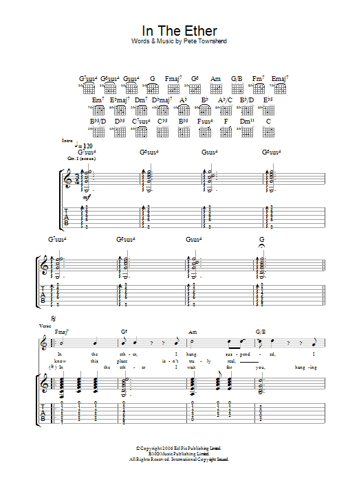 In The Ether sheet music