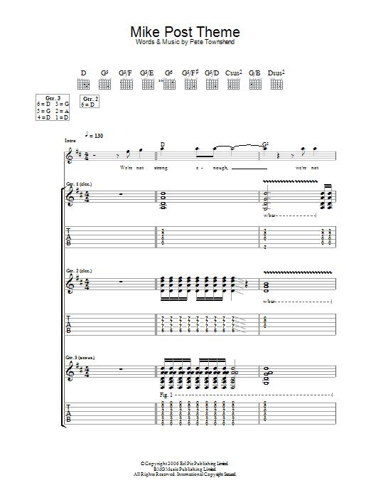 Mike Post Theme sheet music