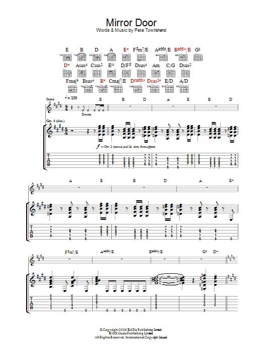 Mirror Door sheet music