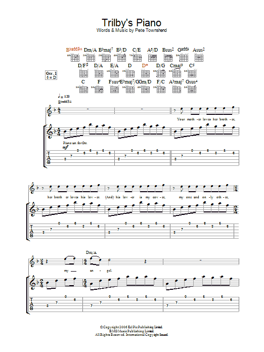 Trilby's Piano sheet music