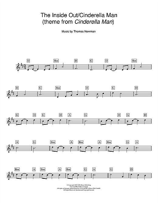 The Inside Out/Cinderella Man (theme from Cinderella Man) sheet music