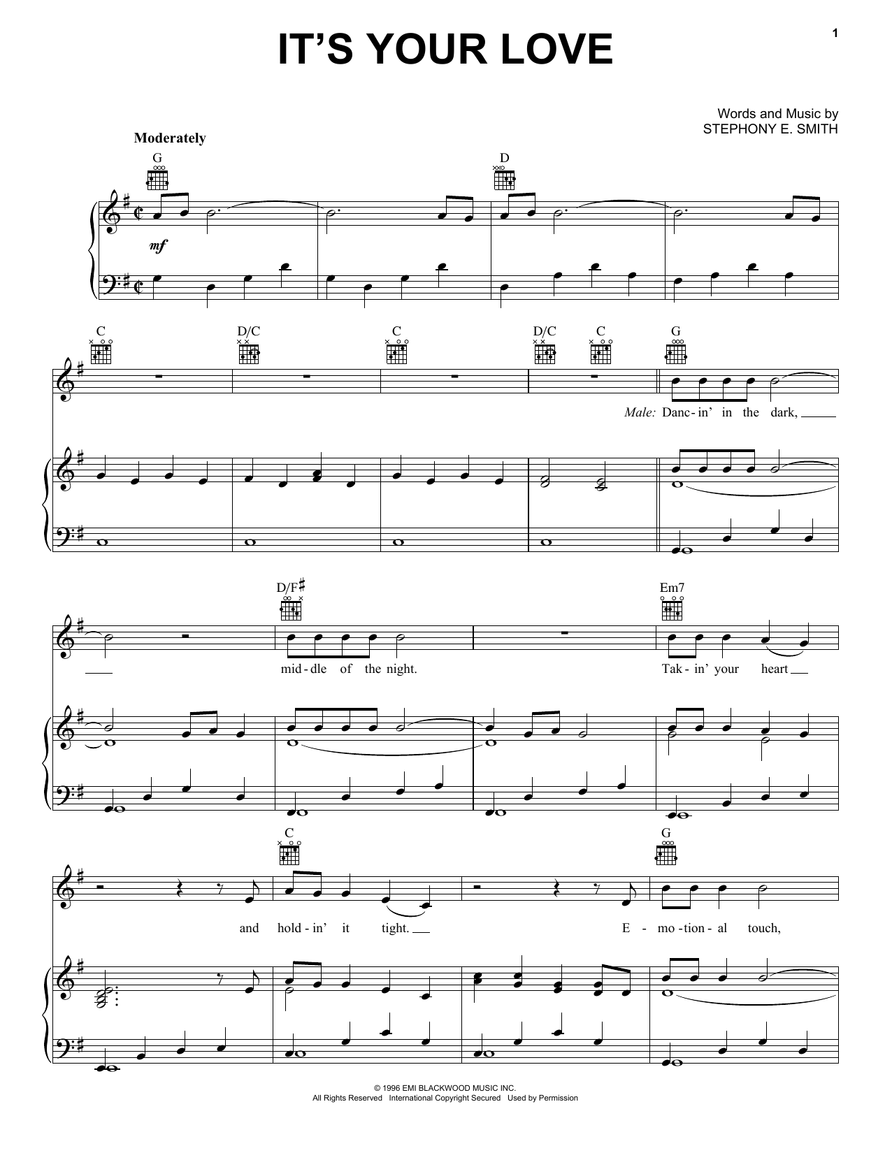 It's Your Love sheet music