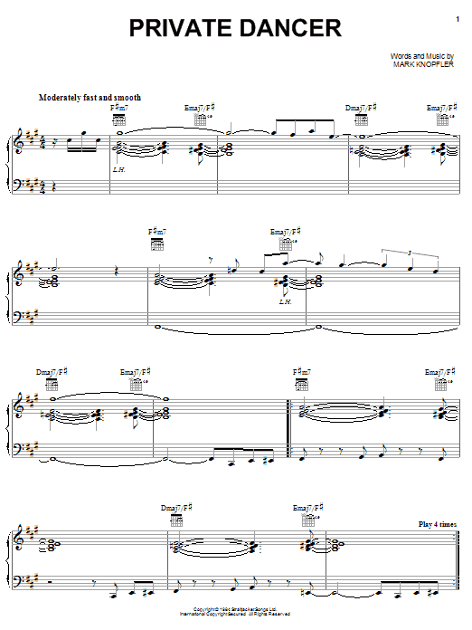 Private Dancer sheet music
