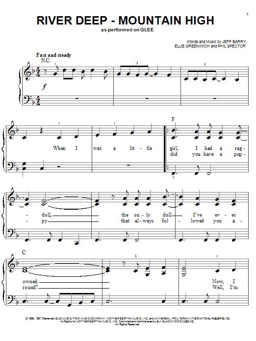 River Deep - Mountain High sheet music