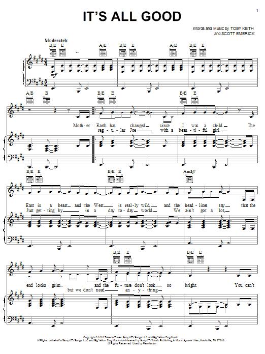 It's All Good sheet music