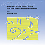 Download Tom Brown Winning Snare Drum Solos For The Intermediate Drummer sheet music and printable PDF music notes