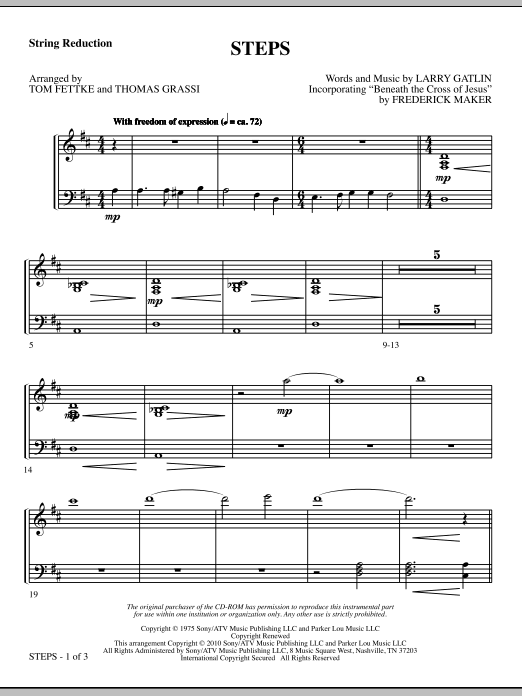 Steps - Keyboard String Reduction sheet music