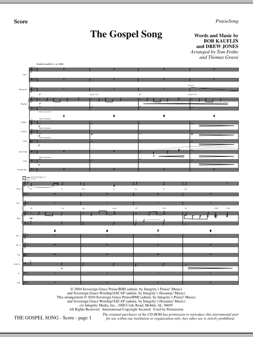 The Gospel Song - Full Score sheet music