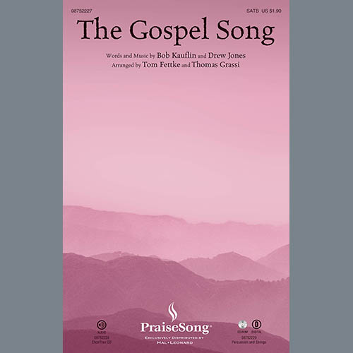 Tom Fettke, The Gospel Song - Percussion, Choir Instrumental Pak