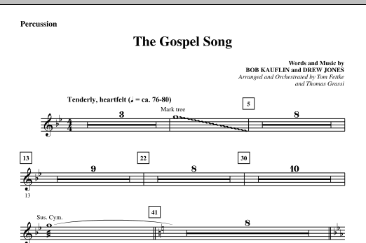 The Gospel Song - Percussion sheet music