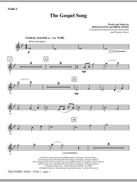 The Gospel Song - Violin 1 sheet music