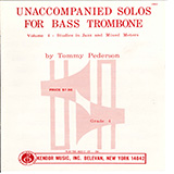 Download Tommy Pederson Unaccompanied Solos For Bass Trombone, Volume 4 sheet music and printable PDF music notes