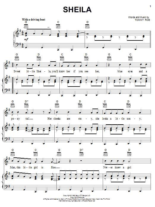 Sheila sheet music
