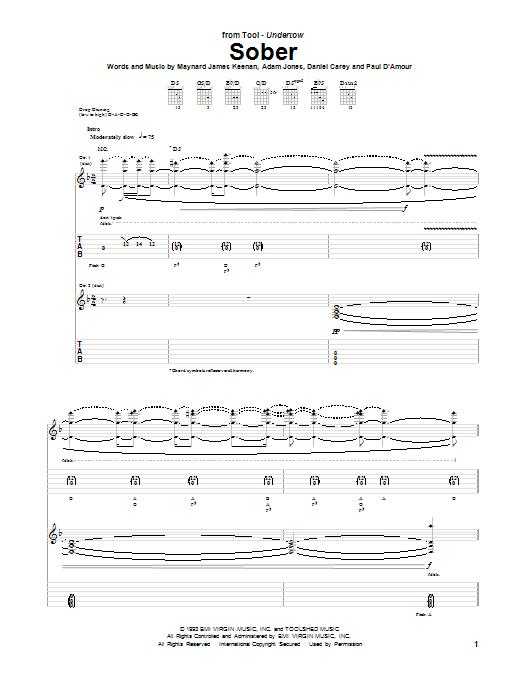 Sober sheet music