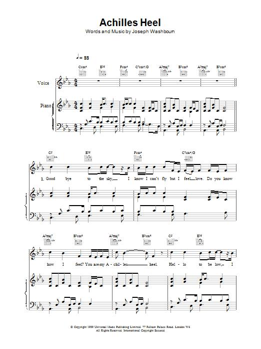Achilles Heel sheet music