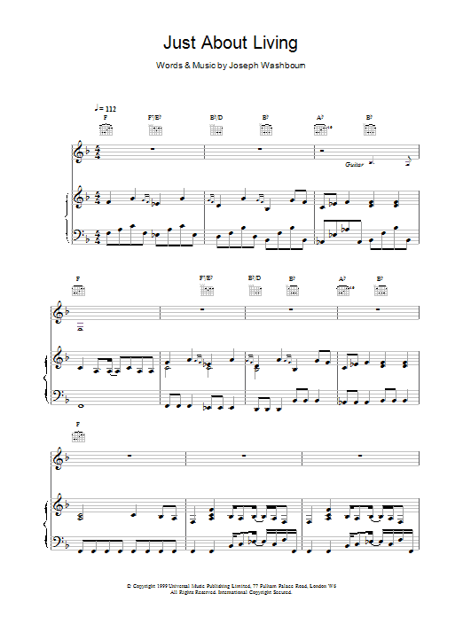 Just About Living sheet music