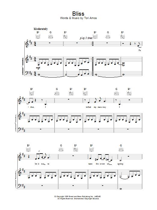 Bliss sheet music