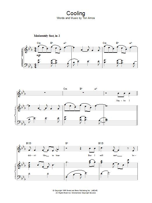 Cooling sheet music