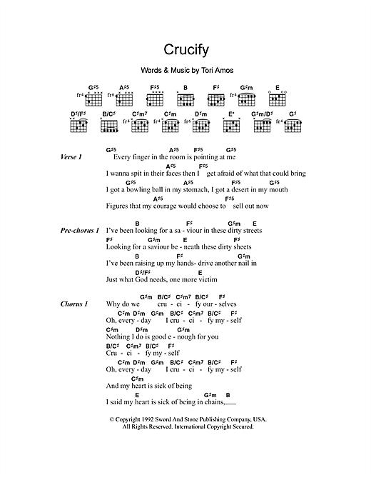 Crucify sheet music
