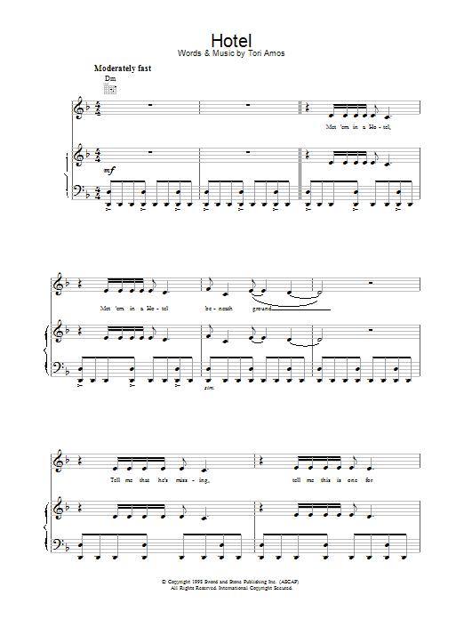 Hotel sheet music
