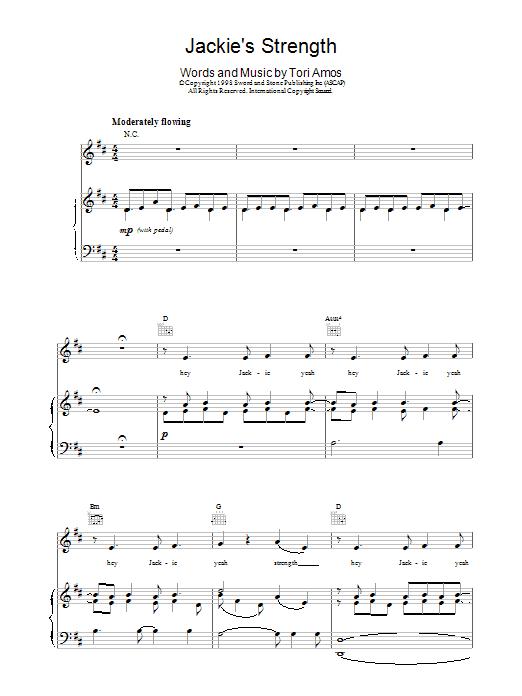 Jackie's Strength sheet music