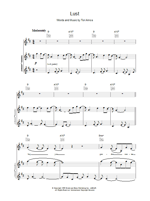 Lust sheet music